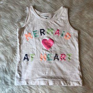 ▪️Carter's Girls Mermaid at Heart Tank 4T